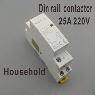 Brand New Durable Hot Fashion AC Contactor 2NO 2NO 1NONC Din Rail Household