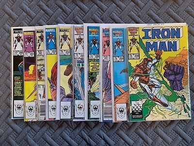 Marvel Iron Man 1980's Lot of 10 Comic Books Vol 1. Issues 200-209