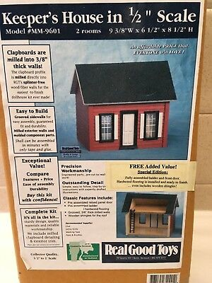 """NIB Real Good Toys Keeper's House Kit 1/2"""" Scale #MM-9601"""