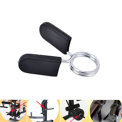 Standard BarBell Dumb Bell Lock Clamps Spring Collar Clips Weight Bar Gym HT