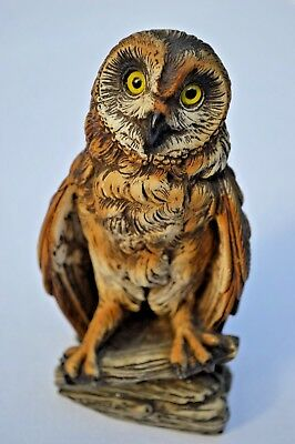 """5"""" Hand Painted Barn Owl Figurine from Italy"""