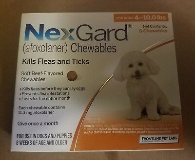 Chewable flea and tick prevention for dogs 4-10 lbs