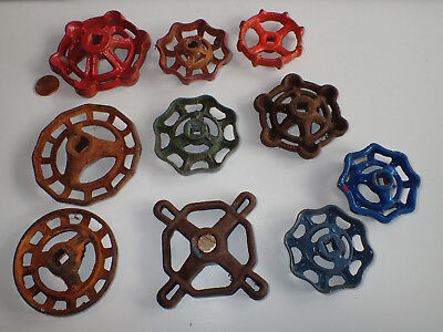 TEN Cool Old Vintage Valve Handles Hose Knobs STEAMPUNK Water Faucet -4CHARITY