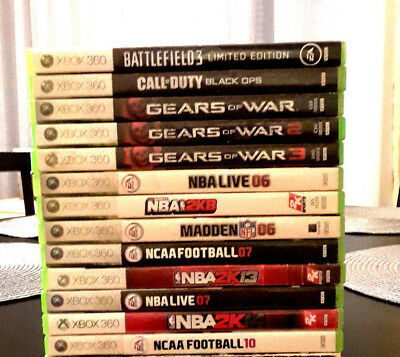 Xbox 360, Sports And Game Lot, (13) Games