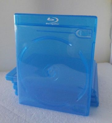 5 Blu-ray Movie Cases  2-Disc DOUBLE W/Logo Empty Replacement Case