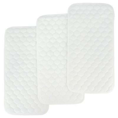 Changing Pad Liners Bamboo Quilted Thicker Longer Waterproof 3 Count Baby Table