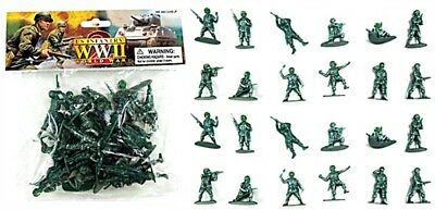 WWII American infantry toy soldiers made in green x 24 in 12 poses