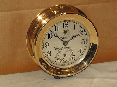 Chelsea Pilot House Clock~6 In Dial~Ww1~Red Brass ~1914~Restored