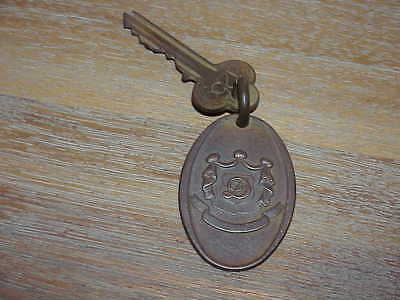 Old Hotel Room Key With Brass Fob Return To Radio City Station New York City