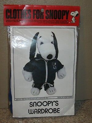 New Vintage Snoopy's Wardrobe Clothes Stuffed Plush Medium Snoopy- Sweat Suit
