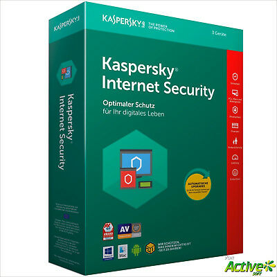 Kaspersky Internet Security 2019 3 PC 2Jahre VOLLVERSION /Upgrade 2018 DE-Lizenz