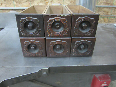 Lot of Six Wood Singer Treadle Sewing Machine storage Cabinet Drawers