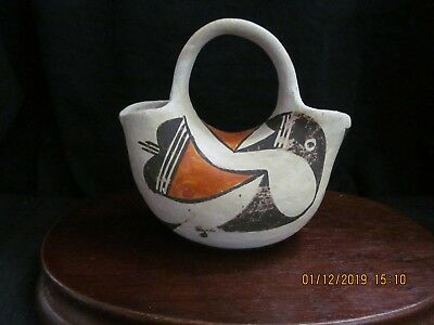 Vintage Acoma New Mexico Wedding Vase