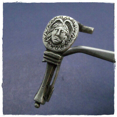 ** MEDUSA ** ancient LEGIONARY SILVER BROOCH (FIBULA)!!!