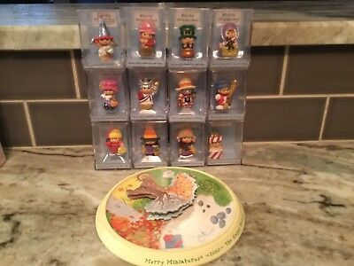 2000 Hallmark Merry Miniatures Happy Hatters Collection Set of 12