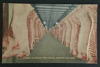 Lot-(3)Vintage Postcards-Swift & Company,Meat Processing Plant Chicago, Illinois