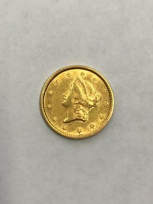 1852 $1 Gold Coin.!!  Type I..Uncertified.. NR.!