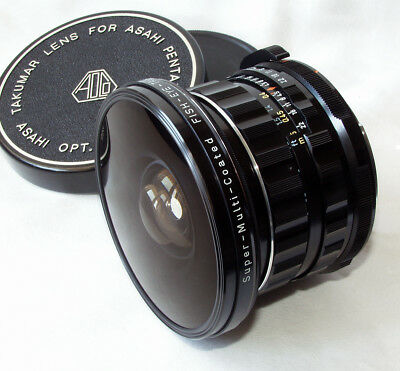 Pentax 6x7 SMC Fish-Eye Takumar 35mm/4.5 with caps and case - very clean