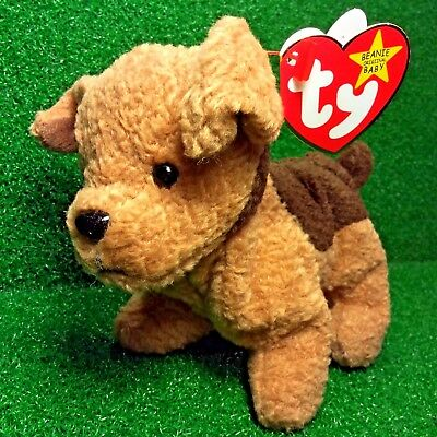 b5be8e7ec97 NEW Rare Retired 1996 Ty Beanie Baby Tuffy The Terrier Dog W  Error Sticker  MWMT