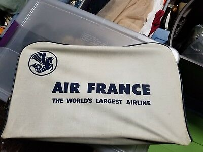 Air France Bag Carry On Overnight Case Vintage Airline Airplane Airlines 18-932