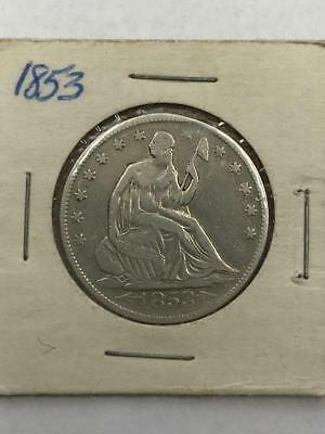 1853 Seated Liberty Half Dollar.! Uncertified.. NR.!!