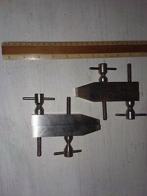 "Machinist parallel clamps, Hand made. Ground 3-3/4""x3/4"""