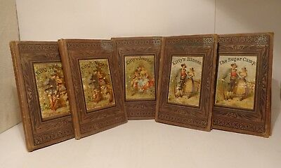 Full Set of Original 1875 Children's Kitty 5 Book Series by Emma S. Mead at NR~
