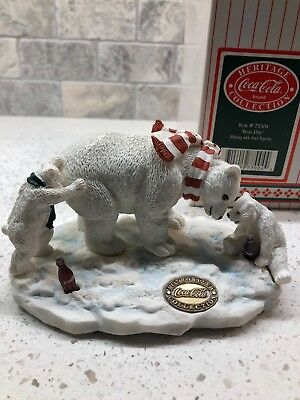 """Coca Cola Heritage Collection,""""Bear Play"""" Polar Bear Playing with Dad"""