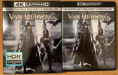 Van Helsing 4K Ultra Hd Blu Ray 2 Disc Set + Slipcover Sleeve Free World Shippin