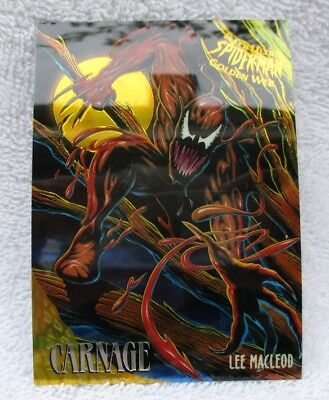 CARNAGE GOLDEN WEB #2 from 1995 FLEER ULTRA SPIDERMAN TRADING CARDS