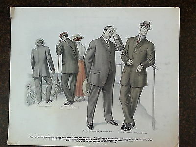 1900's In Store Mens Suit Ads- Sports Themed- Must See!-Hiking