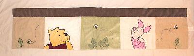 Disney Baby WINNIE THE POOH & PIGLET Bee Applique Window Curtain Valance 58x14