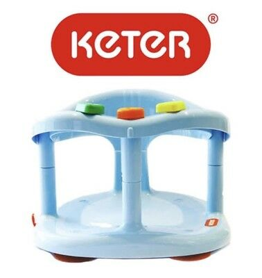 KETER Baby Bath Seat Ring Chair Tub Infant Toddler Anti Slip Suction Cups