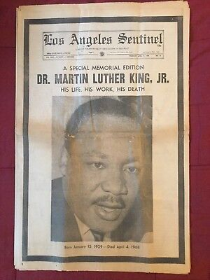 Martin Luther King - Civil Rights - 1968 Los Angeles Sentinel Newspaper