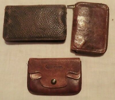 3 coin purses bill folds Maybe Leather Vintage