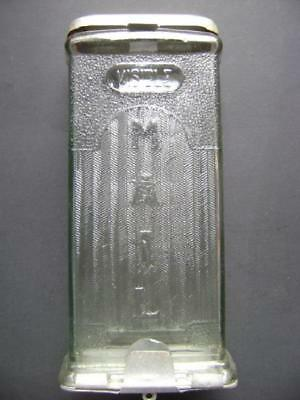 Vintage Visible Mailbox, American Industrial, Thick Pressed Glass, Rare & Fine!
