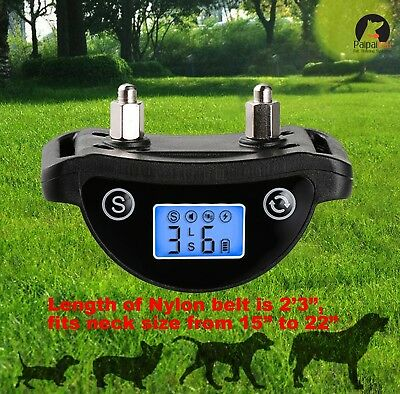 LCD Screen Dog Bark Collar Small Large Dogs Rechargeable Reflective Paipaitek