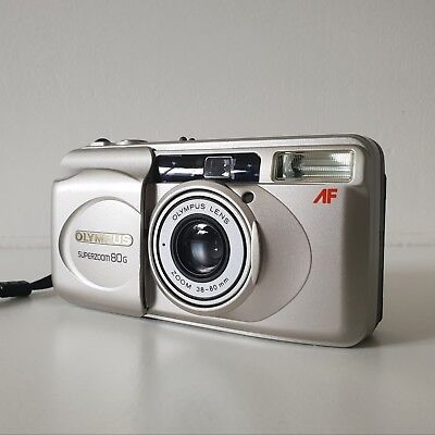 Olympus Superzoom 80G Zoom Auto Focus Camera film 35mm 38-80mm Point and Shoot