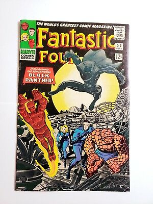 Fantastic Four # 52 EXTREMELY HIGH GRADE!!! 1st Appearance of BLACK PANTHER!!!