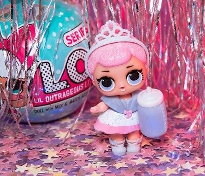 New Lol Outrageous Surprise Crystal Queen Series 1 Rare *the Glitterati* Napping