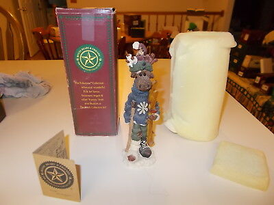"""Boyds Bears Moose """"egon..the Skier"""" Folkstone Collection New In Box"""