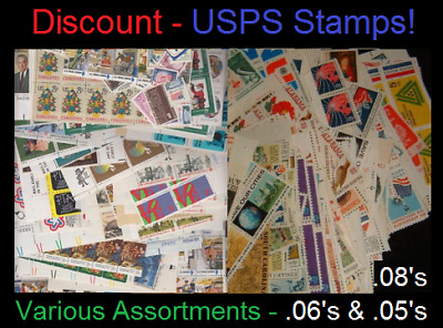 Discount USA USPS Unused Postage Stamps | Face Value $4.56 - Ships Fast!