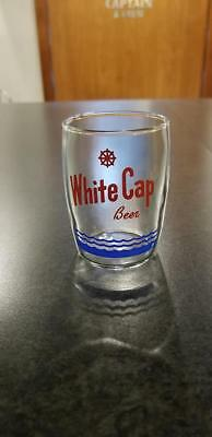 Vintage White Cap Beer Glass Two Rivers Wisconsin