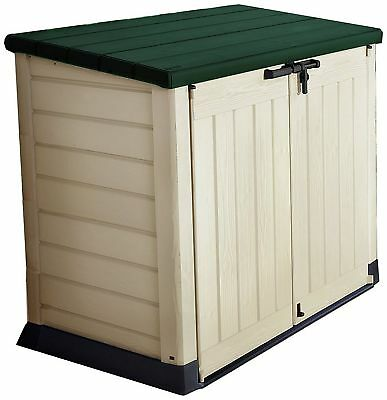 Keter Store It Out Max Garden Lockable Storage Box 1200 Litre - Beige/Green