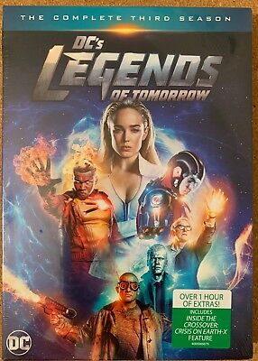 New Dc Legends Of Tomorrow The Complete Third Season Dvd 4 Disc Set + Slipbox