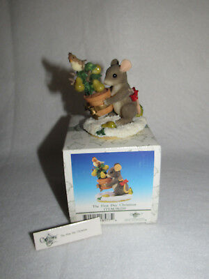 """""""first Day Of Christmas"""" Christmas Charming Tails Fitz Floyd  98/210 - Mib"""