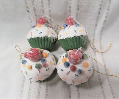 4- Candy Cupcake ornaments Christmas
