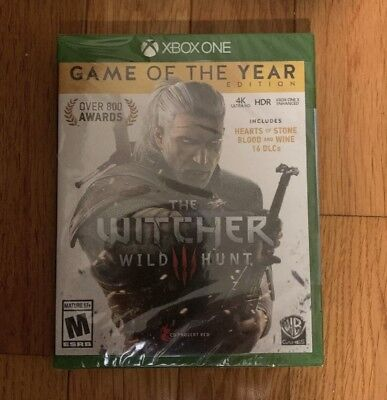 The Witcher 3 III: Wild Hunt Game Of The Year Edition (Xbox One 2018) New Sealed