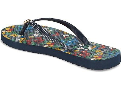 fff0bf8d5a01 TORY BURCH PRINTED Thin Flip Flops IRIS GARDEN 962 Size 9 NEW IN BOX ...