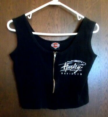 Womens Harley Davidson Crop Top Size Large